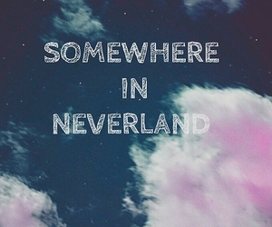 neverland, all time low, and clouds image