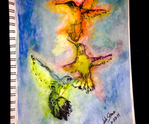 art, birds, and colorful image