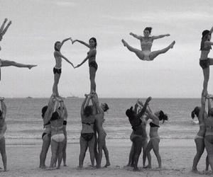 love, beach, and cheer image