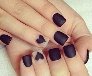 fashion, heart, and nails image