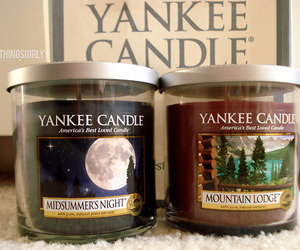yankee+candle, midsummer's+night, and mountain+lodge image