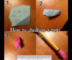 cheat, rubber, and pencil image