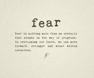 fear obstacles text image