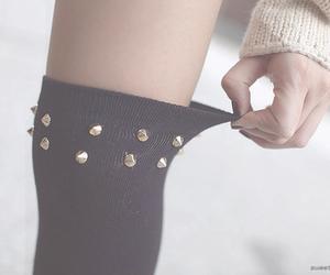 fashion, girl, and knee socks image