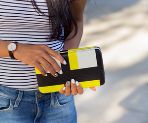 accessories, bloggers, and clutch image