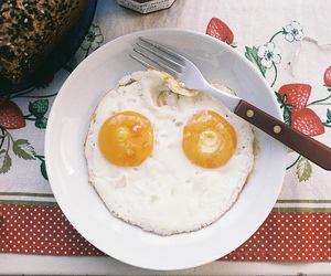eggs, breakfast, and food image