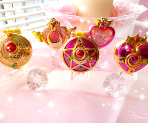sailor moon and pink image