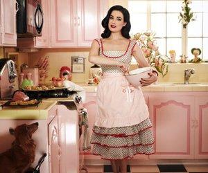 Dita von Teese, kitchen, and vintage image