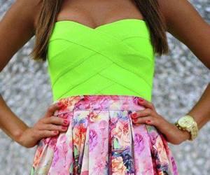 fashion, dress, and neon image