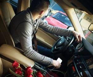 rose, car, and love image