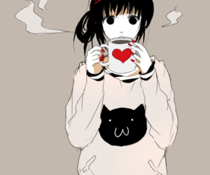 anime, coffe, and cup image