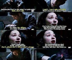 teen wolf, allison argent, and scott mccall image