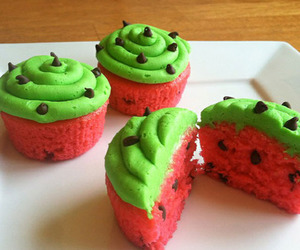 cupcake, watermelon, and food image