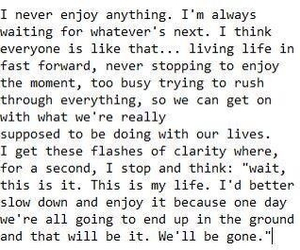 life, quote, and waiting image
