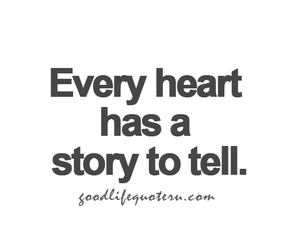 heart, story, and quote image
