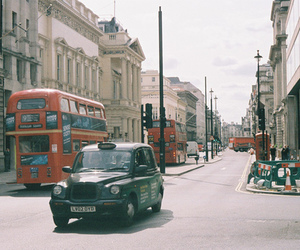 london, bus, and car image