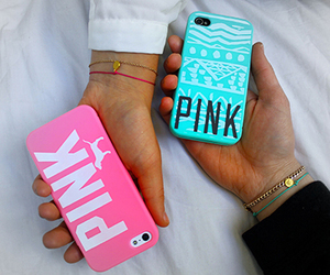 pink, girly, and iphone image