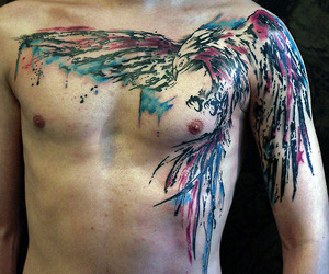 chest, tattoo, and tattooed image