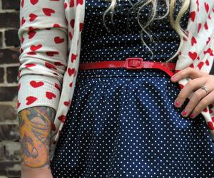 tattoo, dress, and heart image