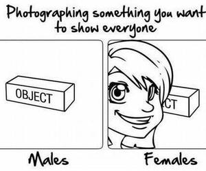 female and funny image