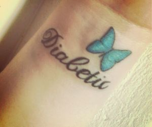 blue, butterfly, and care image