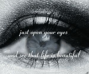 beautiful, eyes, and open image