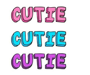 cutie, text, and cute image