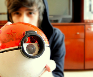 boy, pokemon, and pokeball image