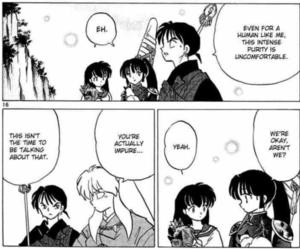 funny, manga, and inuyasha image