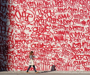graffiti, red, and white image
