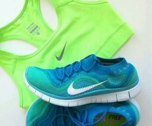 nike, blue, and green image