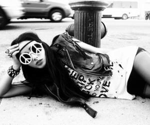 peace, black and white, and hippie image