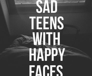 faces, sad, and quote image