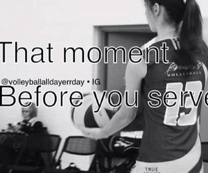serving, volleyball, and that moment image