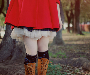 girl, little red riding hood, and style image