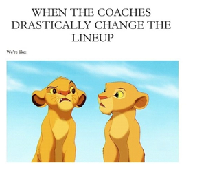 change, line up, and coaches image