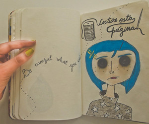 coraline, movie, and wreck this journal image