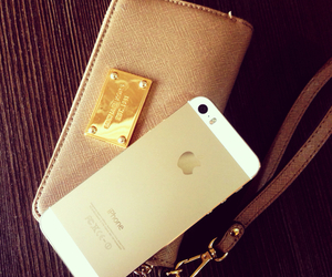 iphone, gold, and Michael Kors image