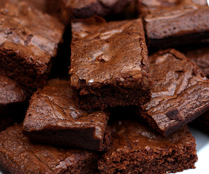 food, chocolate, and brownies image