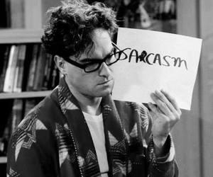 sarcasm, the big bang theory, and leonard image