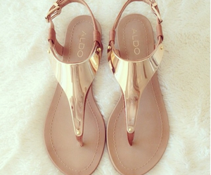 shoes, sandals, and gold image