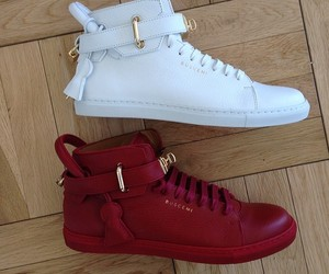 buscemi, gold, and red image