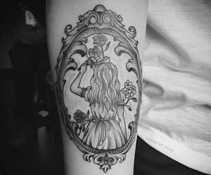 tattoo, alice in wonderland, and ink image