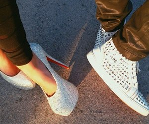 couple, shoes, and white image