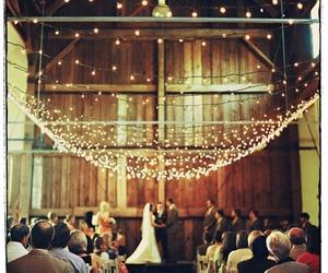 wedding, love, and lights image