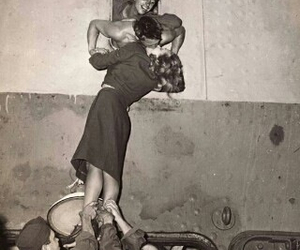 kissing, oldies, and love image