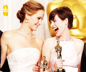Jennifer Lawrence, oscar, and Anne Hathaway image