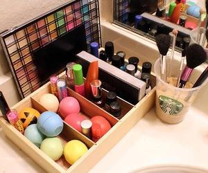 makeup, eos, and starbucks image