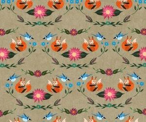 background, bird, and fox image