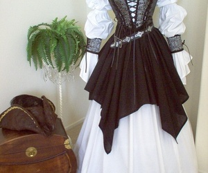 corset, gothic, and gown image